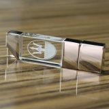 USB кристалла логоса 3D высокого качества изготовленный на заказ