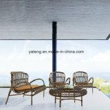 Tavola rotonda e presidenza della mobilia del patio del rattan sintetico esterno del PE per il ristorante