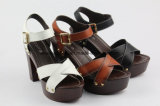 Aprire i pattini dell'alto tallone delle donne del sandalo di modo della punta