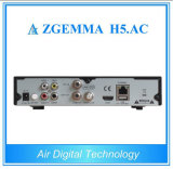 Afinadores gêmeos Multi-Media Zgemma H5 da caixa DVB-S2+ATSC do jogador. Receptor satélite do ósmio Enigma2 do linux da C.A.