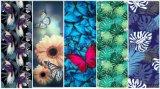 Projeto personalizado esteira da ioga da impressão da folha da flor dos pássaros