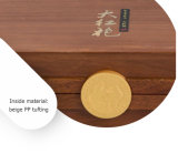 Rétro caisse d'emballage en bois personnalisée de bloc supérieur de feuille de thé