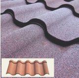 Telha de aço de pedra de pedra da folha do telhado do metal da microplaqueta da rocha/telhadura da cor