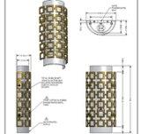 Белый акриловый светильник стены E26 тени Indooor (B70-229)