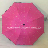 Drei Folding Manual Open Color Coated Umbrella mit Whole Printing