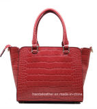 Le borse genuine del progettista dei sacchi di cuoio del coccodrillo d'avanguardia comerciano la cartella all'ingrosso (BKA-SS-40)