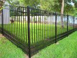 Загородка панели загородки пикетчика черного цвета стальная/алюминиевых