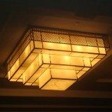 Lâmpada quadrada Multilayer decorativa do teto da resina do hotel da alta qualidade