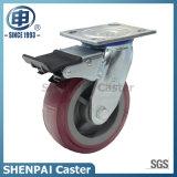 Hochleistungspolyurethan-örtlich festgelegtes Fußrollen-Rad