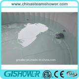 Круглый раздувной напольный водоворот СПЫ Aqua (серый цвет pH050011)
