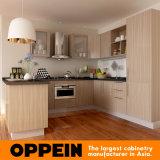 Armadi da cucina di legno modulari del commercio all'ingrosso moderno della melammina di Oppein piccoli (OP15-M11)