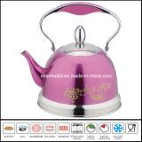 Colorear los utensilios de cocina revestidos de la caldera del silbido del acero inoxidable