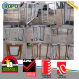 PVC superiore Windows francese con Tempered Glass