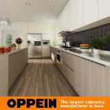 Luxus Holzmaserung Melamin-Insel-Küche-Kabinett (OP14-M06)