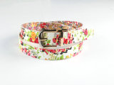 Fashion Print PU Belt