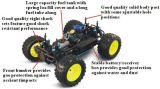 Plein véhicule du gaz RC de modèle en métal de pouvoir de jouet nitro d'alliage