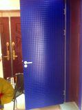Blaue Farben-hölzerne Tür