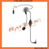 Leichter Kopfhörer mit Galgenmikrophon für bidirektionale Radios