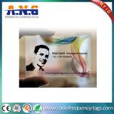 Tarjetas de visita transparentes de encargo claras del PVC de las tarjetas impresas