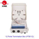 Caixa da terminação do cabo da fibra óptica de 12 portos (PTB112)