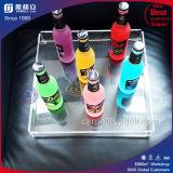 Plateau acrylique durable de bouteille de transparent d'usine