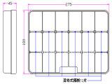 Una cassa rettangolare dei 18 dello scompartimento componenti elettronici della casella smontabile di plastica libera di griglie pp