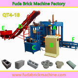 Machine de fabrication de brique électrique de plan d'action Qt4-18 bloc concret faisant la machine