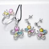 Ювелирные изделия комплекта цвета 925 Multil серебряные установили для молодых повелительниц