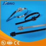 Tipo bonito cinta plástica de Releaseable do aço inoxidável