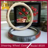 Boa tampa de roda material da direção do carro do preço do competidor PU+Wooden