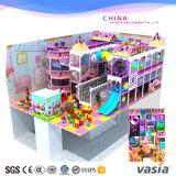 Cour de jeu commerciale utilisée par thème de sucrerie d'intérieur pour le jeu d'enfants