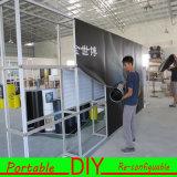 Алюминиевым напечатанная материалом индикация торговой выставки PVC портативная модульная изогнутая