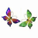 봄 정원 금속 나비 벽 훈장 W.에 의하여 얼룩이 지는 Galss