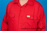 Vêtements de travail élevés de Quolity chemise bon marché de sûreté du polyester 35%Cotton de 65% de longue (BLY1019)