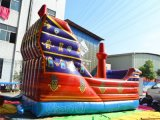 Diapositiva inflable combinada de Buccaneer de pirata de la nave del salto inflable de la diapositiva (CHSL165)