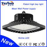 UL TUVの公認の正方形UFO高い湾120lm/W Nichia LEDチップLED高い湾ライト