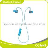Auriculares estéreos sin hilos de Bluetooth de los deportes con el micrófono en el oído para el ordenador del teléfono
