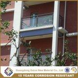 Disegni di vetro dell'inferriata del balcone della balaustra del nuovo corrimano di alluminio dell'inferriata di vetro