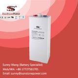 bateria renovável de Opzv da bateria solar de armazenamento de energia do ciclo profundo de 2V 600ah