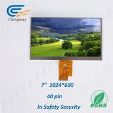 "7 "" TFT LCD 1024年(RGB) X600 LvdsインターフェイスTranspatent LCDの表示"