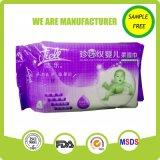 Оптовая продажа OEM сделанная в Wipes младенца Frww спирта Китая органических
