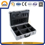 Caja de herramienta de aluminio rayada de plata de la cartera (HT-1052)
