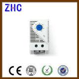 Trilho DIN 35mm Elemento de aquecimento Símbolos do compartimento Termostato de temperatura