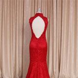Vestito da sera rosso Backless cinese dei vestiti da cerimonia nuziale