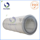 Filterkは集じん器の再使用可能なろ過材をプリーツをつけた