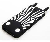 Caixa macia do telefone de pilha do silicone do cão preto e branco da zebra dos desenhos animados da cor (XSDW-008)