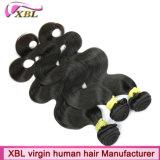 Выдвижение волос естественного черного цвета человеческих волос бразильское