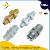 Encaixes de tubo padrão hidráulicos masculinos dos encaixes DIN2353 dos adaptadores do anteparo de Jic