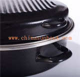 Roaster do esmalte de Sunboat, partido, dispositivo de cozinha do Kitchenware/do Kitchenware do BBQ