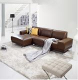 2016 modo moderno L sofà del cuoio di figura per uso della Camera (SF013)